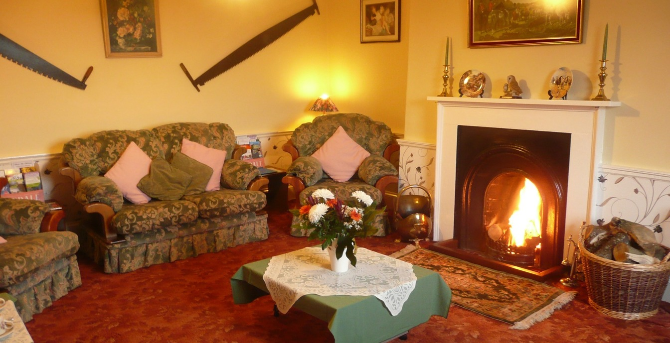 The lounge at Woodhouse Farm, Westow