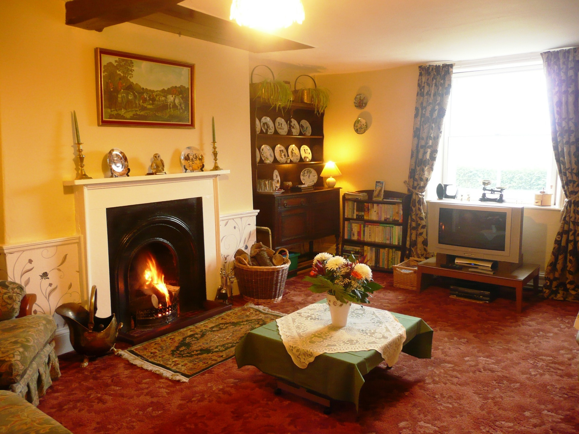 The lounge at Woodhouse Farm B&B